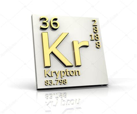Kr Periodic Table by Krypton Form Periodic Table Of Elements Stock Photo