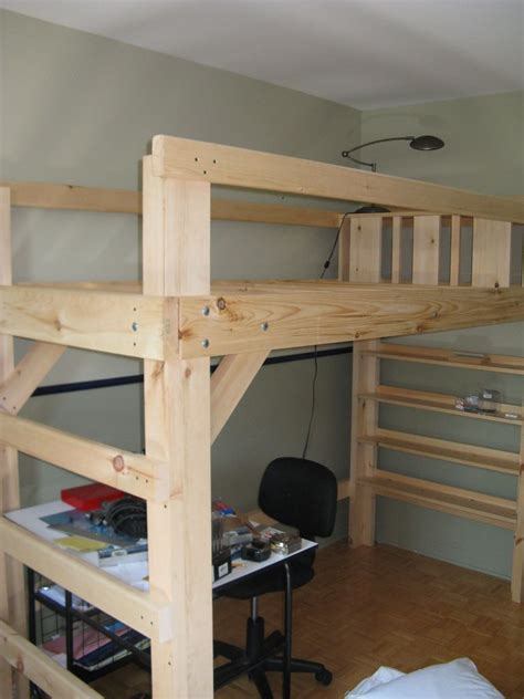 dorm loft bed free college dorm loft bed plans discover woodworking