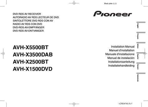 pioneer avh x5500bt user manual 52 pages also for avh
