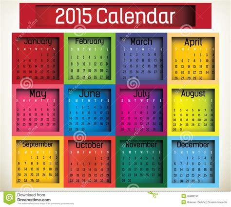 Box Calendar Box Calendar Stock Vector Image 45086151