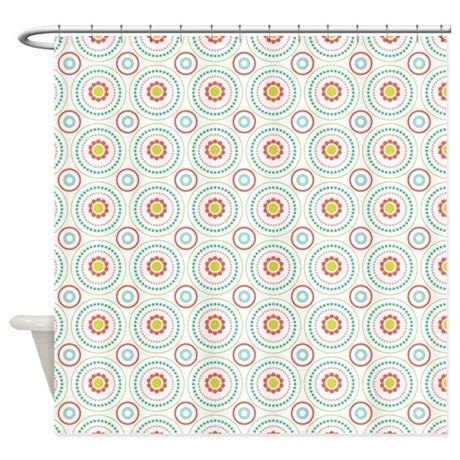 orange and teal shower curtain teal orange geometric circles shower curtain by nicholsco