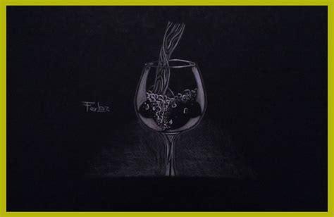 imagenes para dibujar en cartulina negra dibujo de una copa de agua en cartulina negra din a4 con