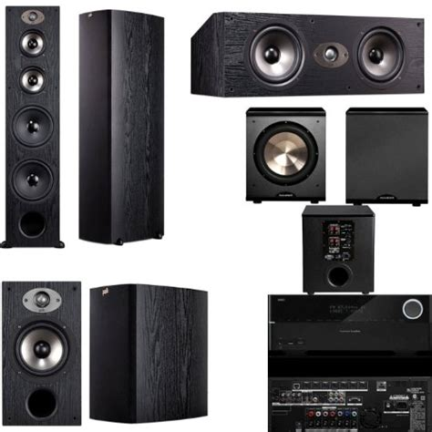 polk audio tsx550t 5 1 home theater system blackharman