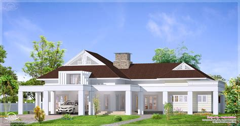 bungalow design single floor luxury bungalow elevation kerala home design and floor plans