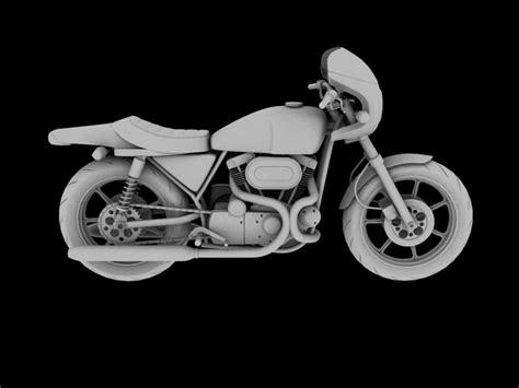 harley davidson xlcr 1000 caf racer 3d model max obj 3ds harley davidson xlcr 1000 cafe racer 1977 3d model in