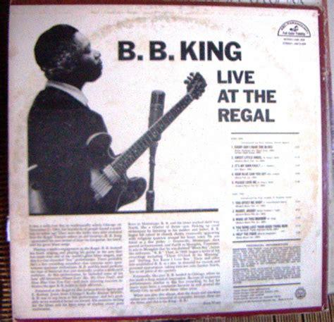 bb king live at the regal blues b b king live at the regal lp 12 180 css u s 49