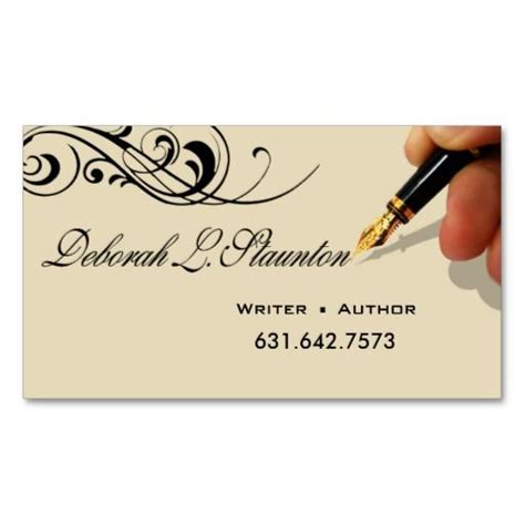 Author Business Cards Templates by Business Card Exles For Writers Choice Image Card