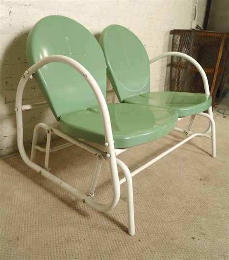 Deco Glider Patio Seating Set At 1stdibs Mid Century Modern Patio Glider For Sale At 1stdibs