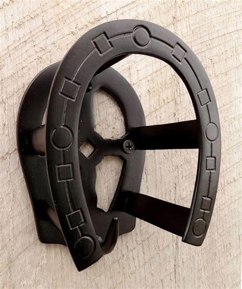Horseshoe Shaped by Horseshoe Shaped Bridle Rack Matte Black