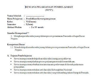 makalah membuat rpp download rpp dan silabus kelas 6 sd kurikulum ktsp