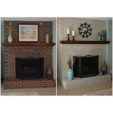 Paint Brick Fireplace by Fireplace Paint Kit Lighten Briighten Brick Fireplaces
