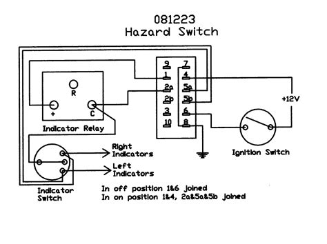 automotive hazard switch wiring diagram free