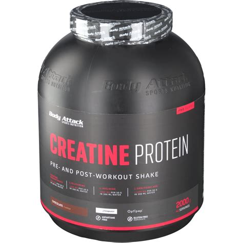 creatine or protein attack creapure 174 creatine protein schokolade shop