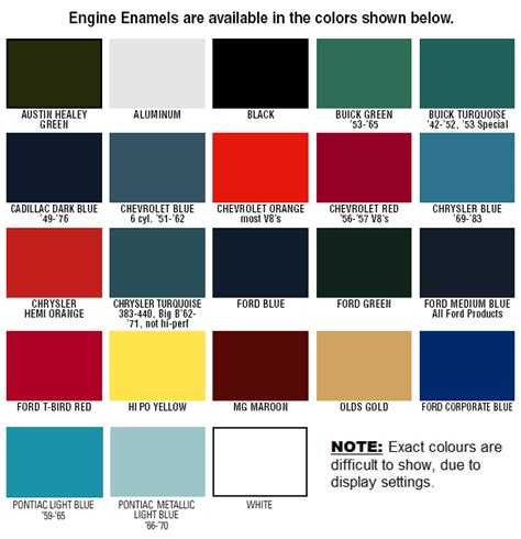 vht engine paint color chart vht free engine image for user manual