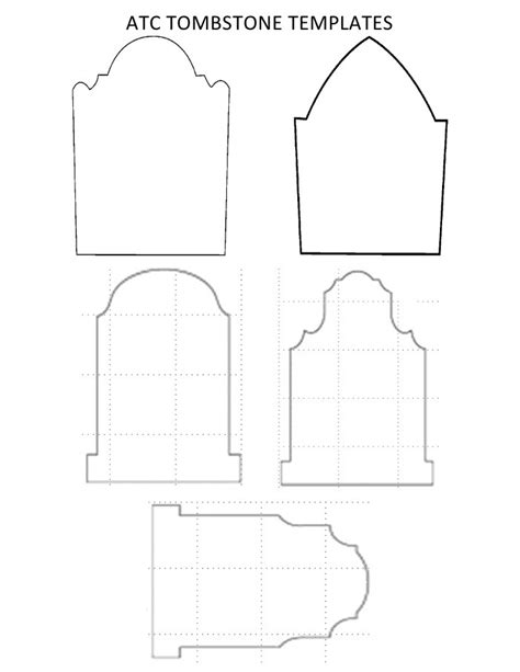 Freebie 3 Templates For Halloween Tombstones Scrap Booking Tombstone Designs Templates