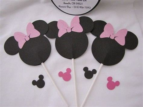 Minnie Mouse Cupcake Toppers Handmade - 17 best images about frozen minnie on