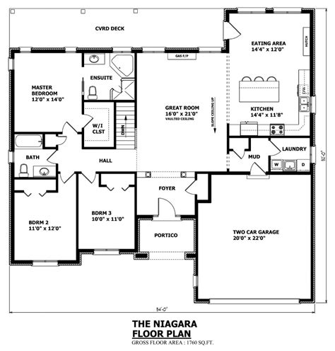 Canadian Home Designs Custom House Plans Stock House Floor Plan Elevation Bungalow House