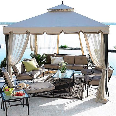 Yard Awnings Jcpenney Cindy Crawford 2010 10 X 10 Gazebo Garden Winds