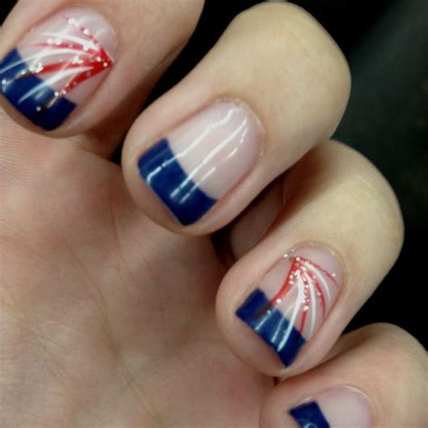 red acrylic 4th of july nils nails 4th of july nails and fourth of july on pinterest
