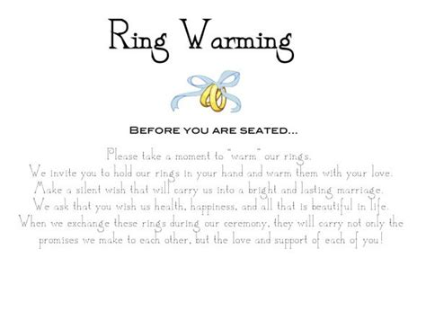 ring warming ceremony sign weddingbee photo gallery