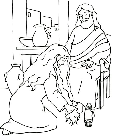 jesus forgives coloring page