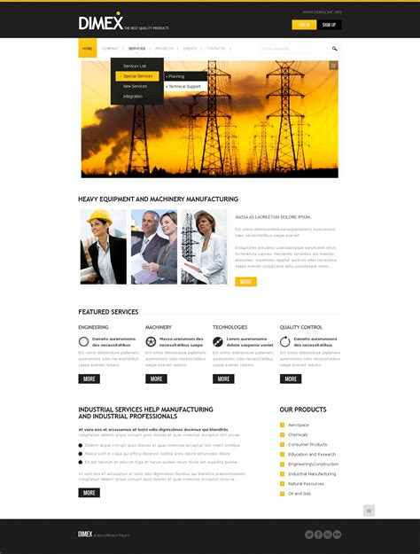 drupal themes overview lighting electricity drupal template 37217