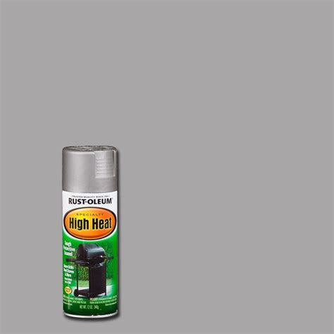 rust oleum specialty 12 oz silver high heat spray paint of 6 7716830 the home depot