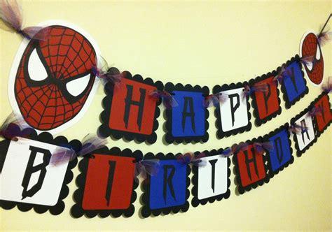 free printable happy birthday spiderman banner spiderman inspired happy birthday banner