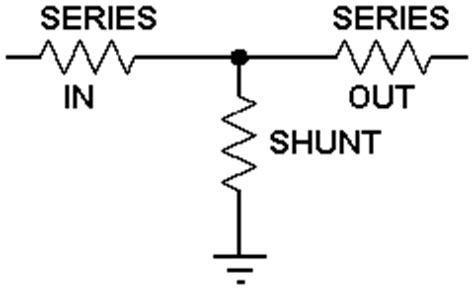 series resistor impedance matching matching t attenuator calculator
