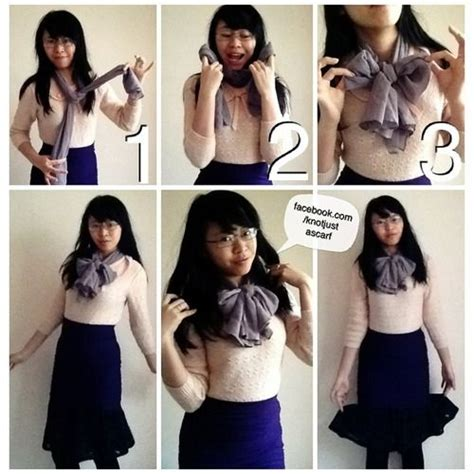tutorial ways to wear a scarf tutorial 110 the neck bow is a cute but chic way to