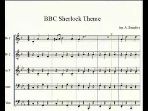 theme music sherlock bbc sherlock theme brass quintet youtube