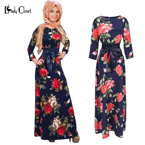Maxi Dress Muslim Dress Wanita Rasenda Dress New Fashion Abaya Muslim Maxi Dress Islamic Printing