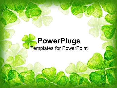 template powerpoint leaf powerpoint template a number of green leaves in form of