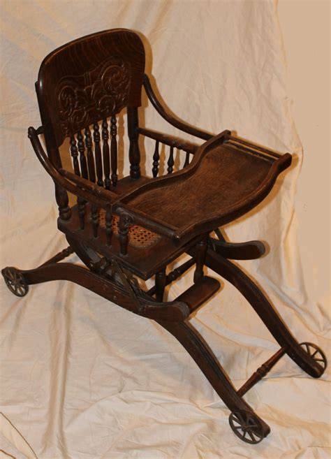 Antique Stroller High Chair by Bargain S Antiques 187 Archive Antique Oak Folding