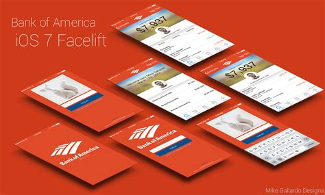 app bank of america bank of america ios app facelift on behance