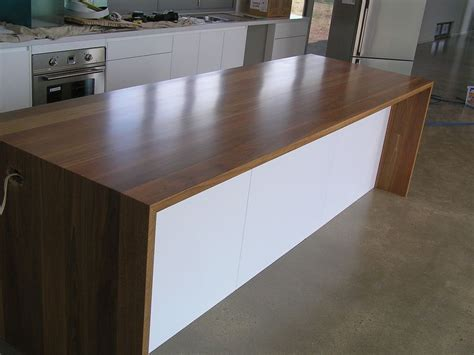 bench top wood waterfall bench tops products wood n doors