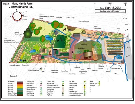 map design permaculture design map many farm