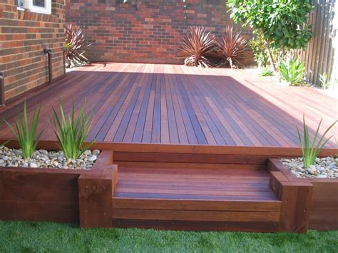 backyard wood patio backyard decking shamrock landscaping and design