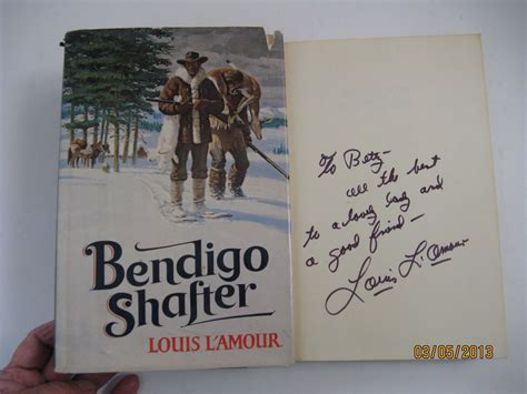 Bendigo Shafter By Louis L Amour Signed First Edition