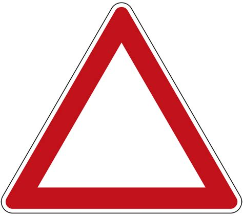 Triangl Deutschland by File German Road Sign Triangle Template Stvo Since 1971