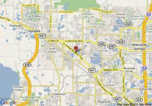 map of howard johnson express inn apopka apopka