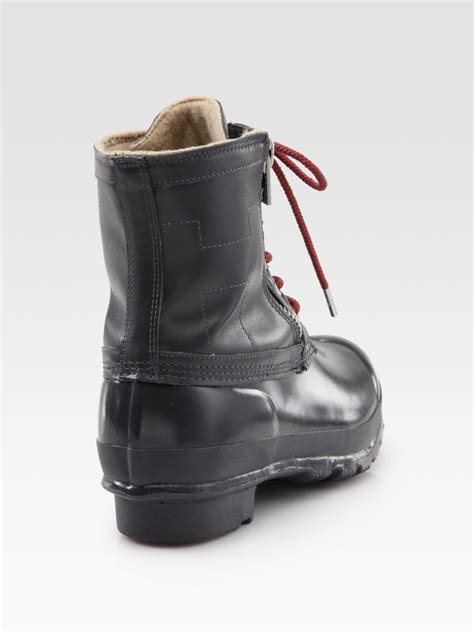 corwin lace up leather rubber duck boots in