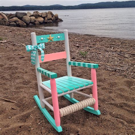 Painted Childrens Chairs by Painted Rocking Chair Rocking Chair Nautical