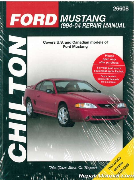 haynes repair manual 1994 1997 ford mustang chilton ford mustang 1994 2004 car repair manual
