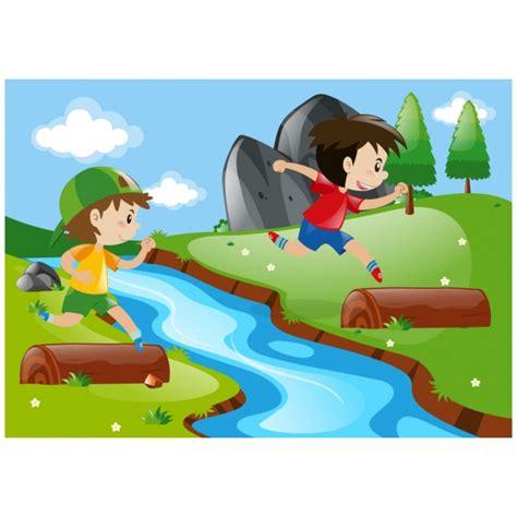 imagenes niños jugando en el mar ni 241 os jugando en el r 237 o descargar vectores gratis
