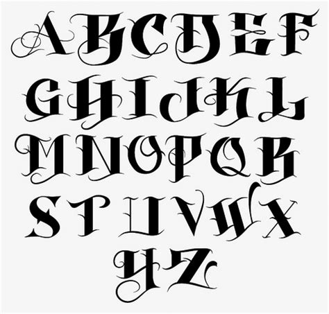 tattoo fonts a z lettering from a to z top lettering generator