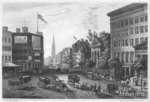 Home Decor Throw Pillows new york broadway 1850 photograph by granger