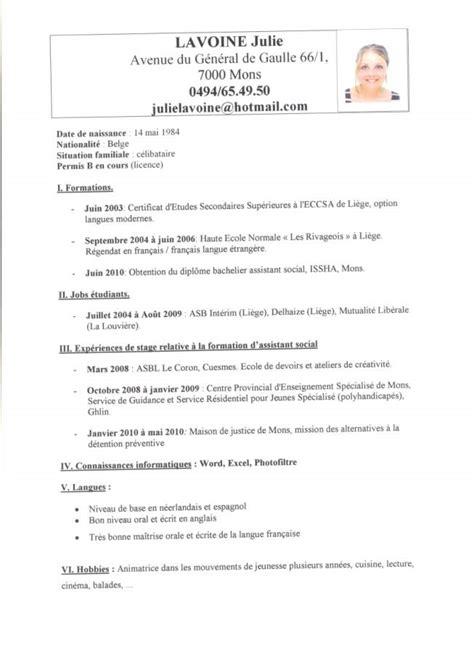 Resume Format Lettre De Motivation Exemple Neerlandais