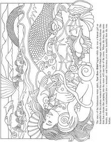mermaid coloring pages for adults dover sles раскрась