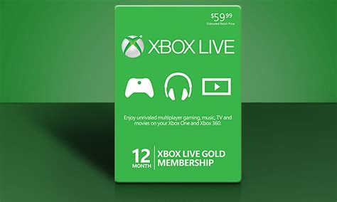 Xbox Live 12 Month Gold Membership Gift Card - 12 month xbox live gold card groupon